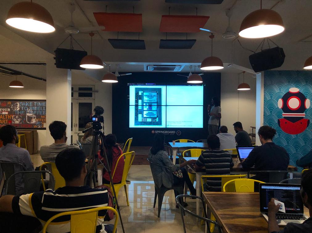 WordPress Goa, Prateek talking